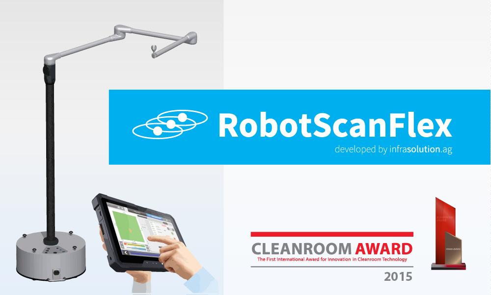 """InfraSolution gewinnt mit """"RobotScan Flex"""" den Cleanroom Award"""